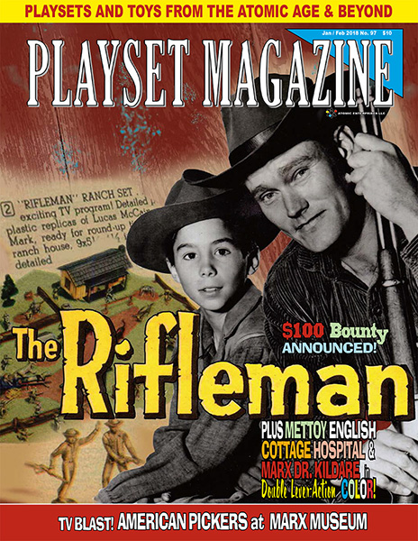 Playset magazine #41 Auburn Early American frontier Marx Presidents